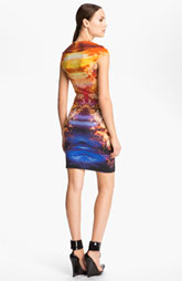 McQ Alexander Crystal Print Dress