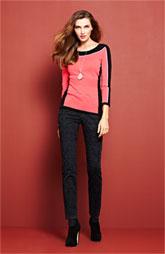 "Ni & Zoe Sweater & NYDJ ""Sheri"" Zebra Print jeans"