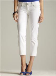 Seven7 White Cropped Jean - Loehmann's