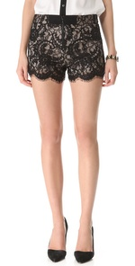 Alice + Olivia     High Wasited Lace Shorts     Shopbop