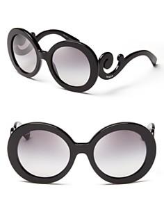 Prada Round Baroque Sunglasses - Bloomingdales