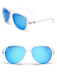 Ray- Matte Transparent Mirror Aviator sunglasses  bloom