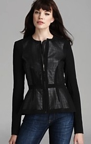 Rebecca Taylor Leather Jacket - Quilted bloomies