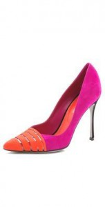Sergio Rossi pointy suede pumps - shop bop