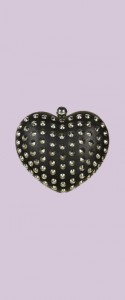 Topshop stud heart box clutch - Nordstrom