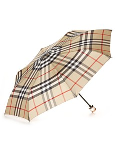 Burberry Trafalgar Packable Check Umbrella bloom