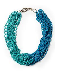 Piperlime-Tinley Road-turqoise and blue large chain link necklace