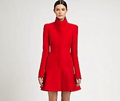 SAKS-Alexander McQueen wool crepe flounce coat