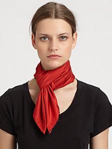 SAKS-Saint Laurent silk-blend scarf
