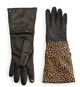 Sak_Leopard Calf Hair Leather Gloves