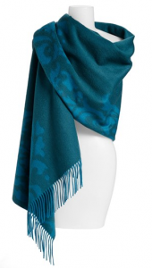 'Scroll' Woven Cashmere Wrap