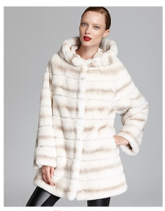 Bloomingdales-Maximilian Hooded Rex Rabbit Coat