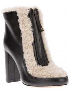 Chloe wool trim ankle boot