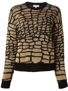 Farfetch Kenzo scaly motif jumper 10540125_2694757_400