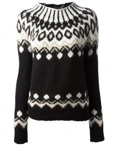 MONCLER fair isle knit sweater