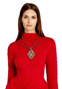 sweater with necklace