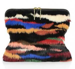 3.1 Philip Lim Dyed Rabbit Fur medium 31 Minute Bag saks