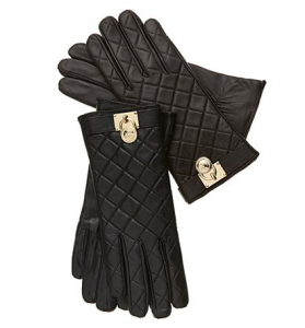 MICHAEL Michael Kors Gloves, Quilted Leather Hamilton Lock Macys