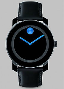 SAKS Movado Large Bold Watch:Blue Detai