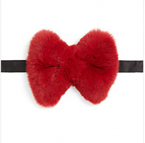 SaksBryan Boy for Adrienne Landau Rex Fur Bow Tie