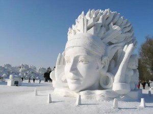 Snow-Sculpture-at-Quebec-Ice-And-Snow-Festival