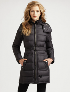 saks_Burberry Brit Quilted Buckle Belt Puffer Coat