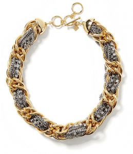BananaRepublic.comMixed Metal Woven Necklace