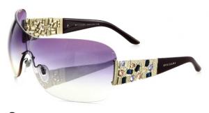Bulgari Rimless Shield Sunglasses saks