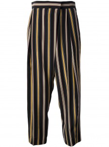 CHLOÉ striped wide leg trouser Farfetch