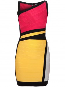 HERVÉ LÉGER 'Nolita' colour block dress Farfetch