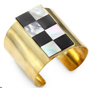 Kelly Wearstler Onyx & Gold Cuff