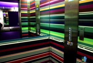 Elevator at Missoni Hotel