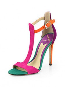 B Brian Atwood Leigha T-Strap Sandals Saks