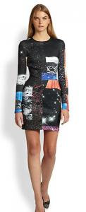 Canyon Clover Funny Honey Space-Printed neoprene Dress saks