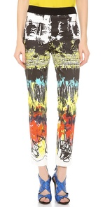Cedric Charlier Printed Cotton Pants sb