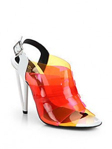 Fendi Multicolored PVC Slingback Sandals Saks