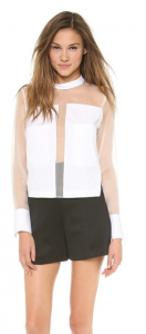 Robert Rodriquez Blocked Organza Shirt Shopbop