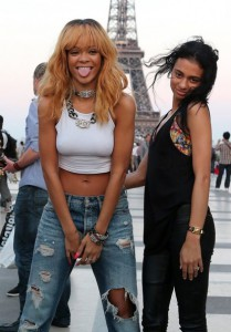 Rihanna & friends in Paris
