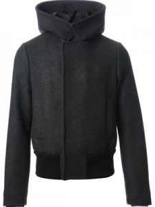 Farfetch Giorgio Armani Wool Hooded Jacket