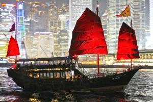 Junk boat HK harbor
