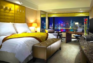 Sleeping w/ the view at the Intercontinental Hotel Hong Kong